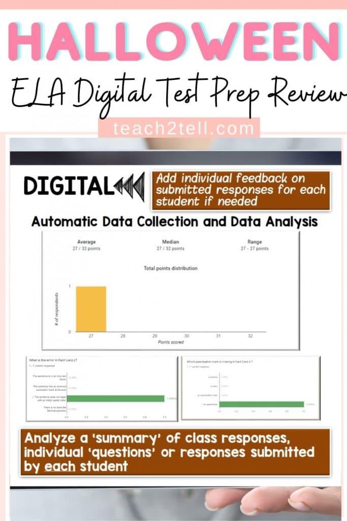 Halloween ELA Standardized Test Prep Activity
