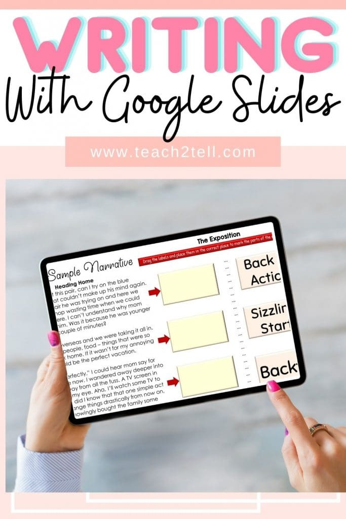 How to teach writing using google slides