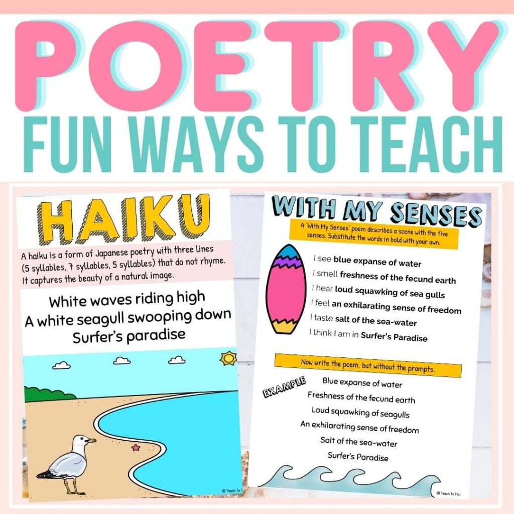 Ways to teach poetry