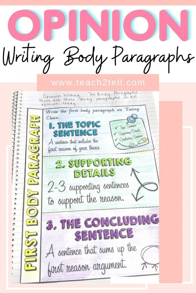 How to teach opinion writing to 3rd, 4th, 5th grades