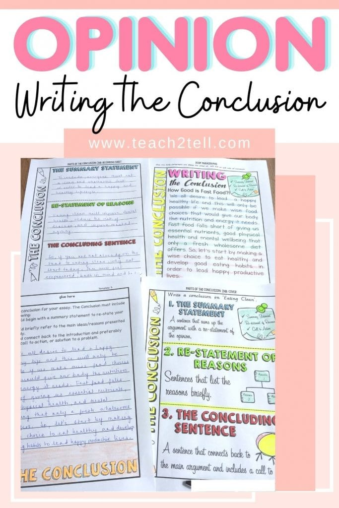 how to teach opinion writing to grade 6