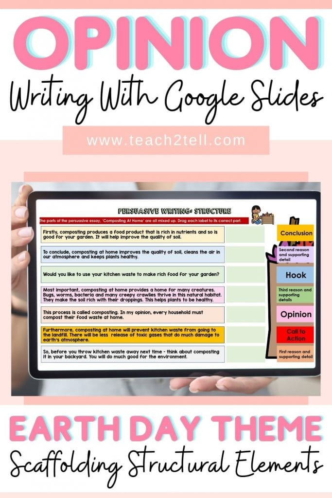 opinion writing scaffolding structure