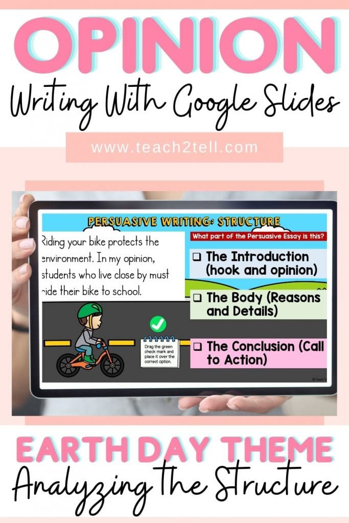 opinion writing structure
