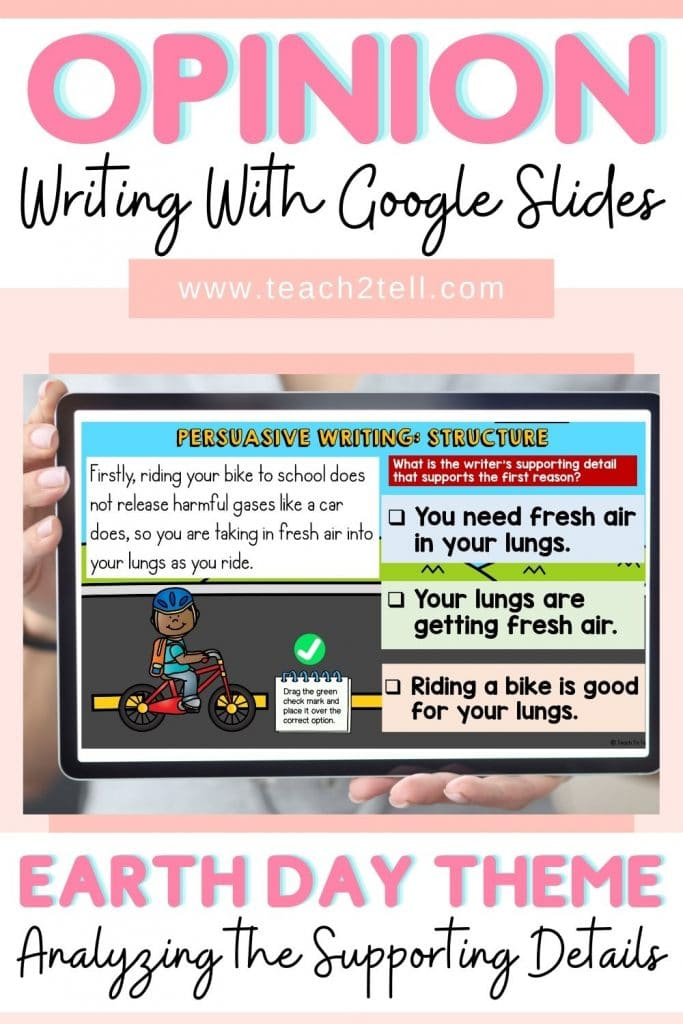 opinion writing supporting details