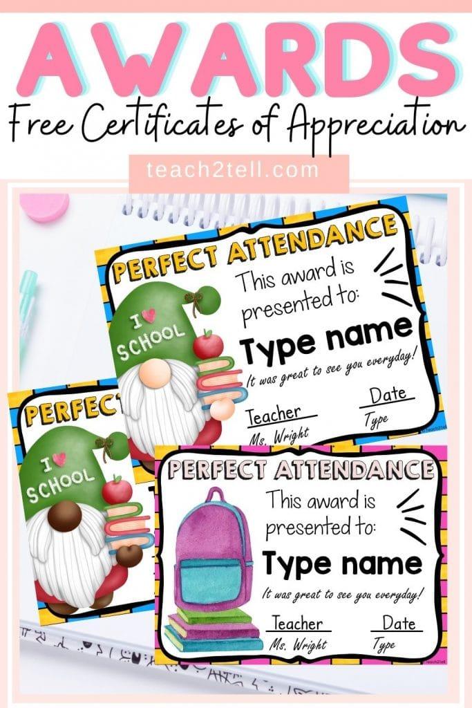 Free Certificates of Appreciation