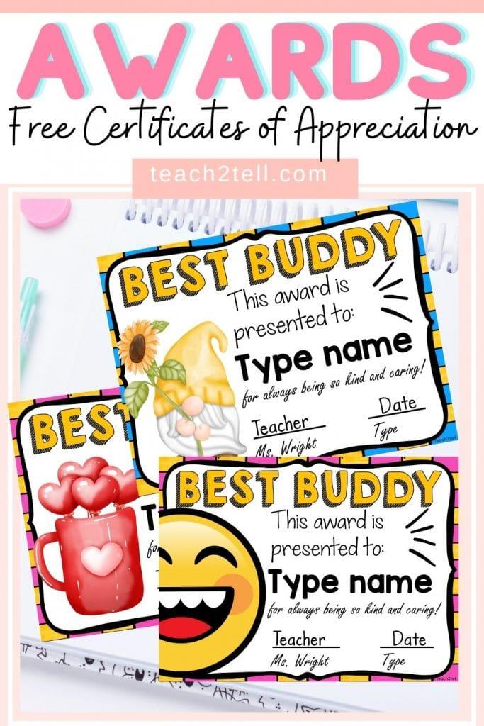 Free Student Award Certificates