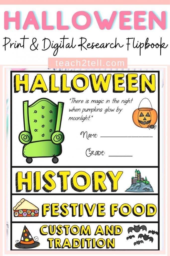 Halloween Digital Research Writing Activity