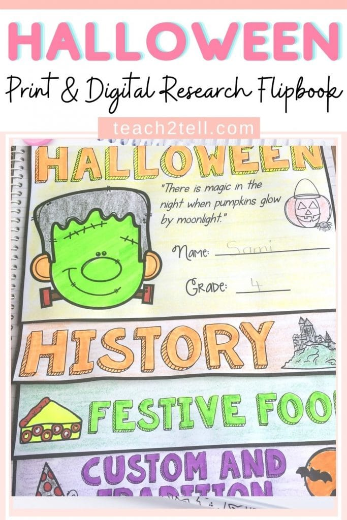 Halloween Research Writing Activity